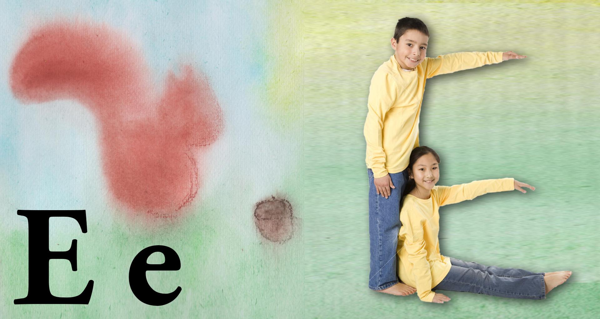Diverse Childrens Font E Yellow